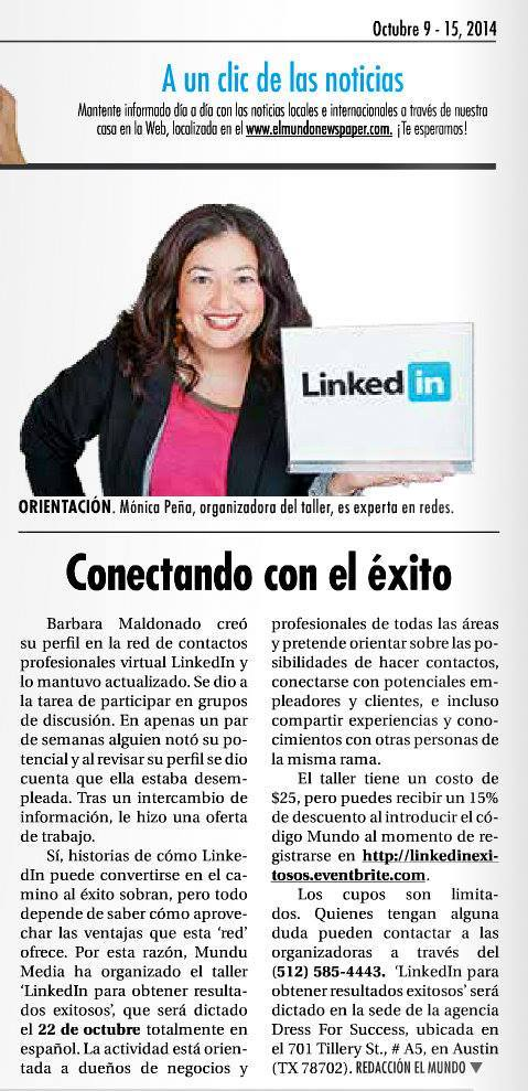 Linkedin mundo newspaper