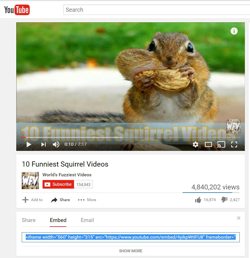 YouTube to blog post
