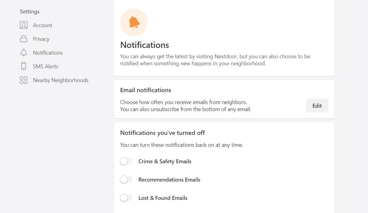 nextdoor notifications
